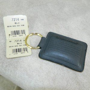 Coach Vintage Bean Bag Key Fob #7214 In Blue! NWT